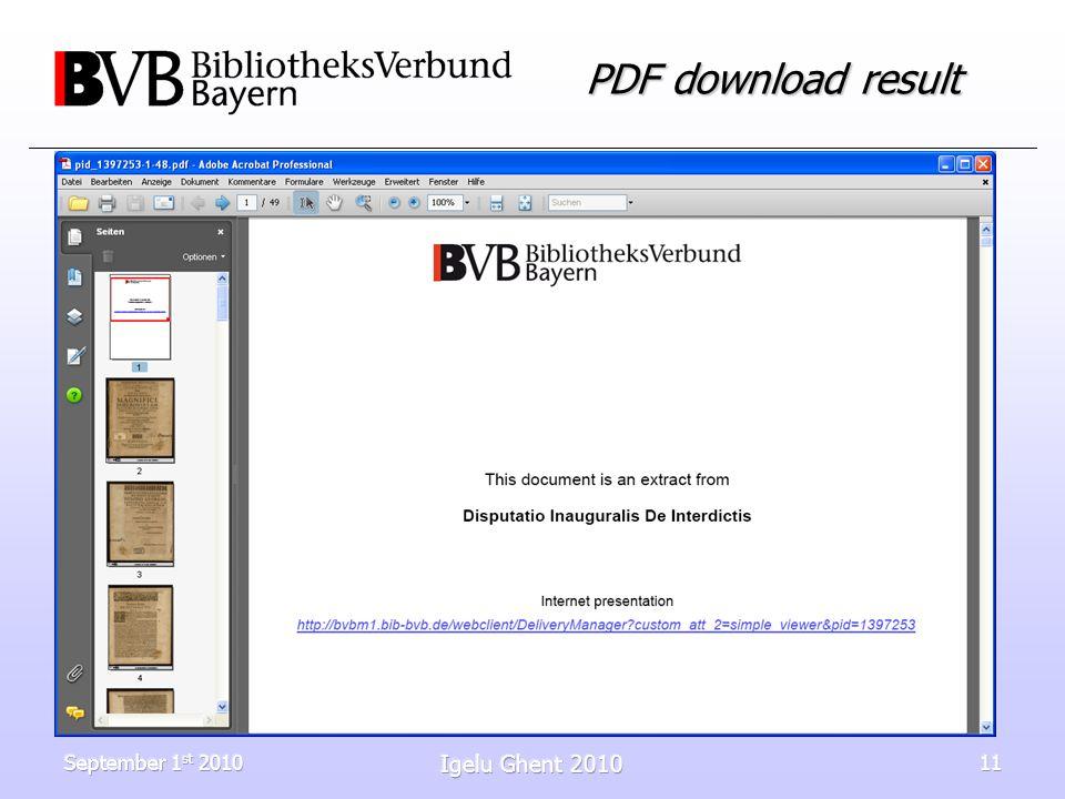 September 1 st 2010 Igelu Ghent 2010 11 PDF download result