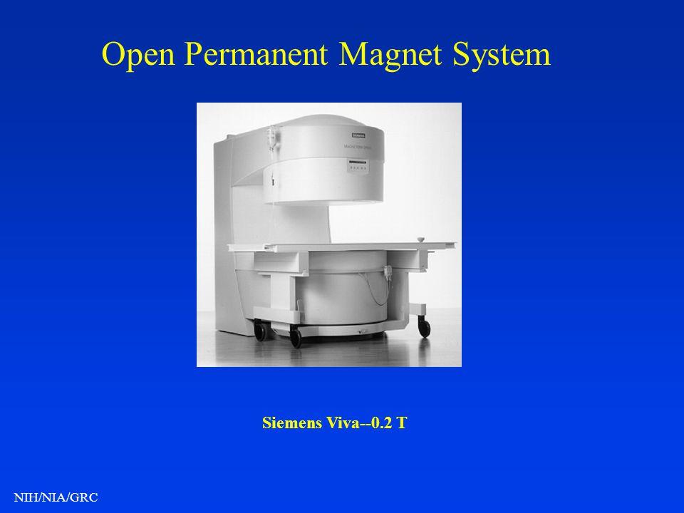 NIH/NIA/GRC Open Permanent Magnet System Siemens Viva--0.2 T