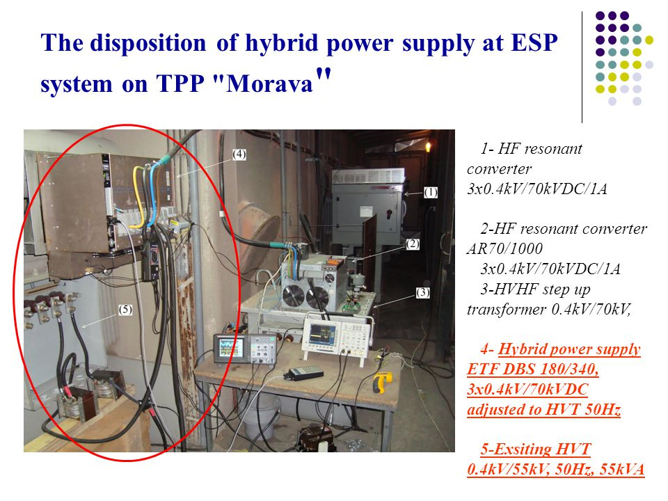 The disposition of hybrid power supply at ESP system on TPP