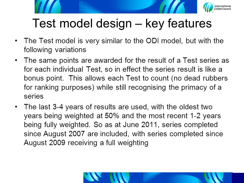 Using rankings for qualification How suitable are the current ranking models for determining qualifiers for ICC Events.