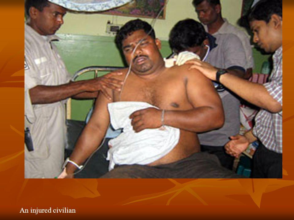 An injured civilian