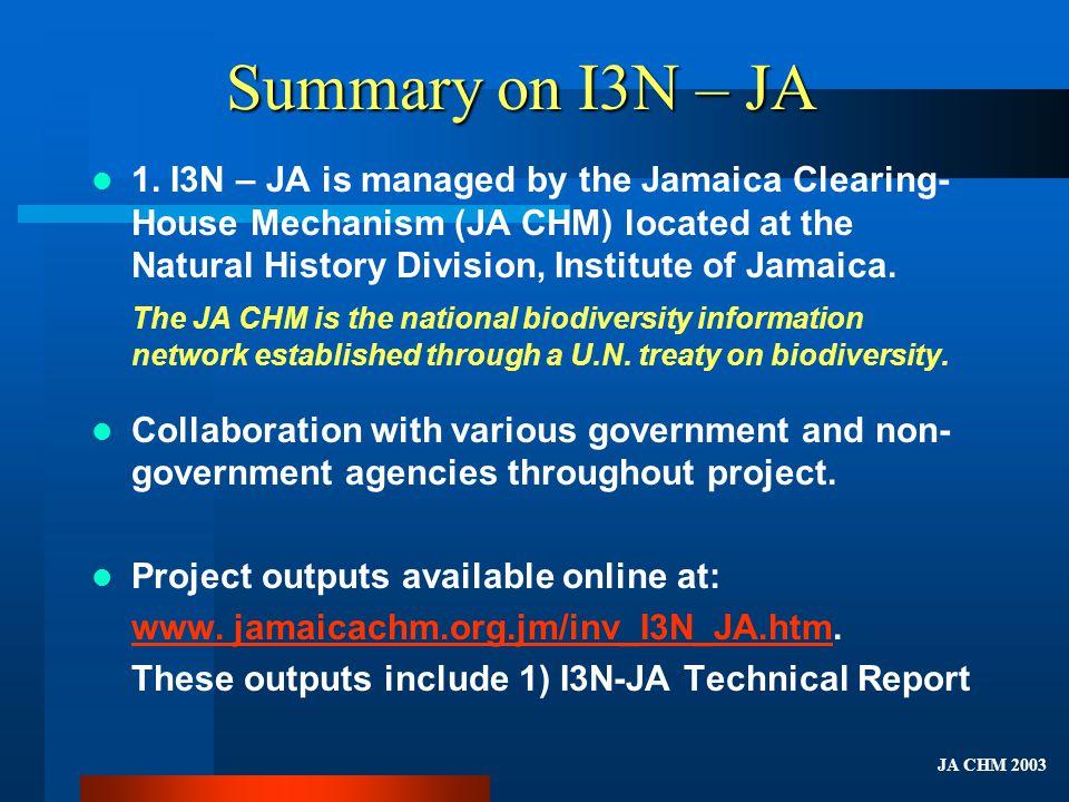 Summary on I3N – JA (cont.)