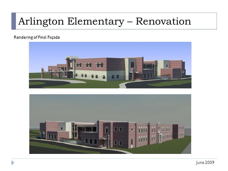 Arlington Elementary – Renovation Rendering of Final Façade June 2009