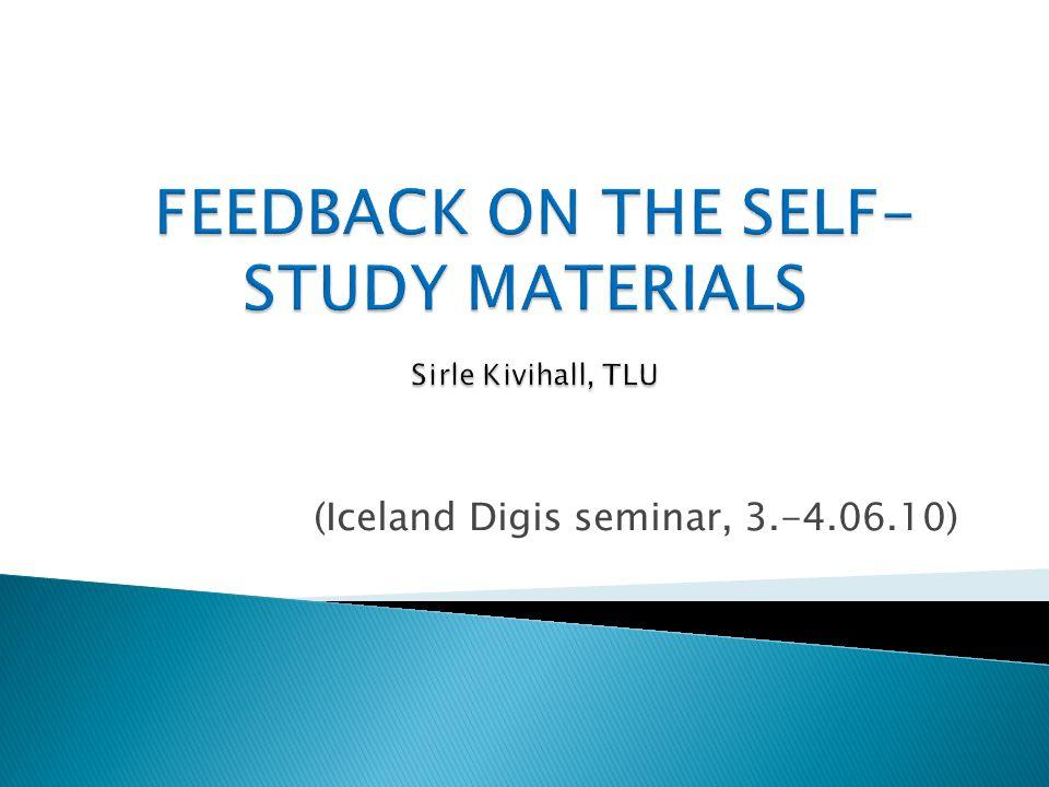 (Iceland Digis seminar, 3.-4.06.10)