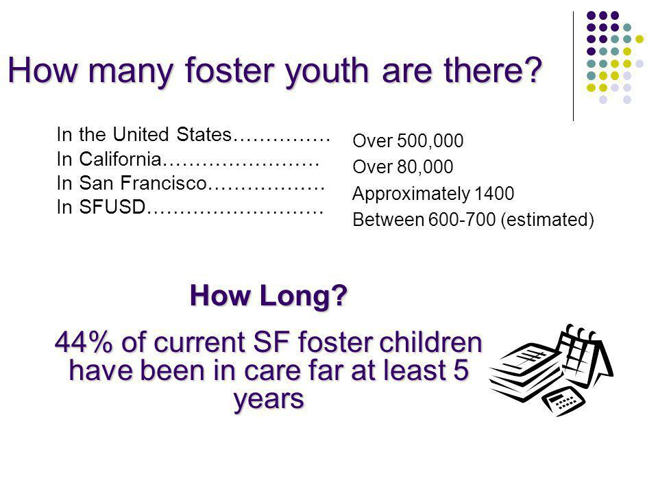How many foster youth are there.