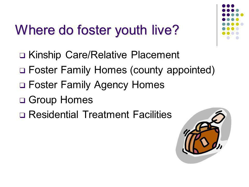 Where do foster youth live.