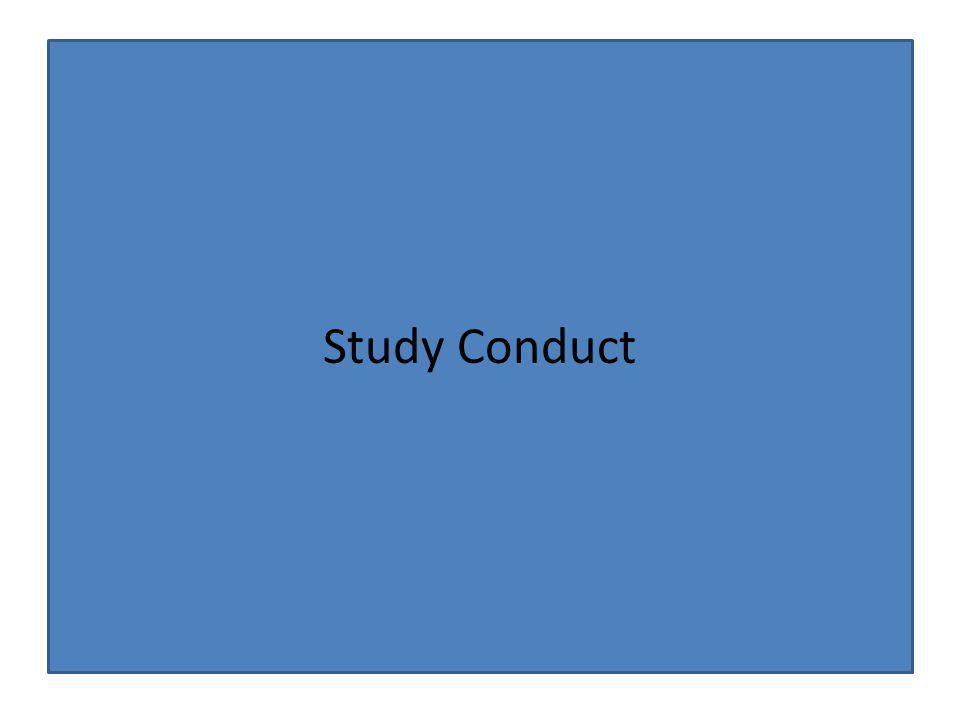 Study Conduct