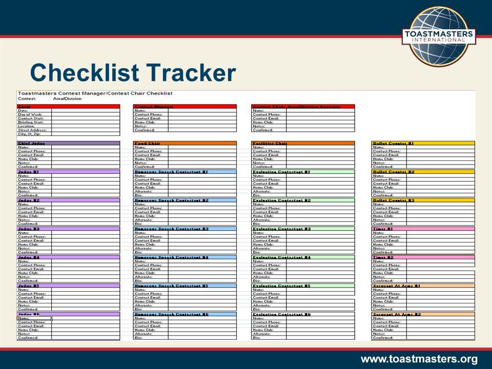Checklist Tracker