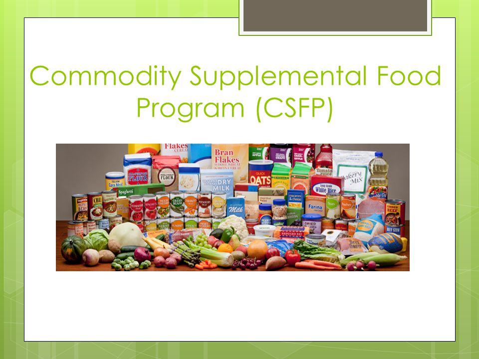 Commodity Supplemental Food Program (CSFP)
