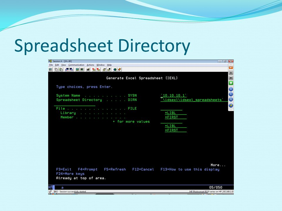 Spreadsheet Directory