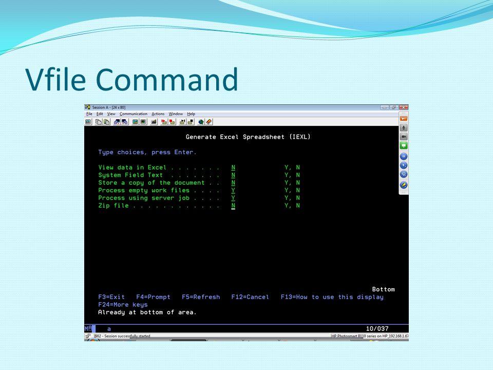 Vfile Command