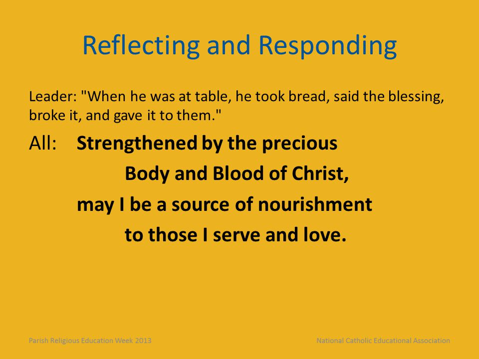 Reflecting and Responding Leader: