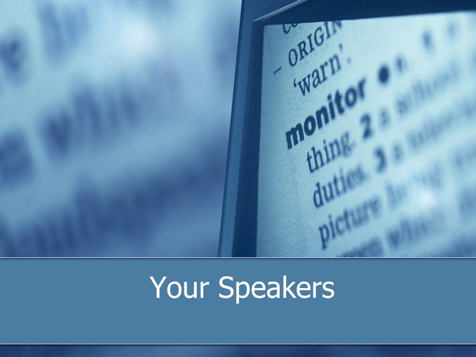 Your Speakers