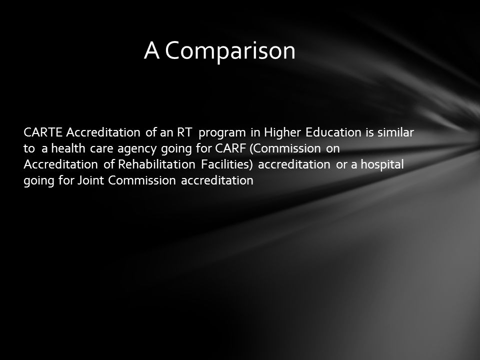 The goal of accreditation is to ensure that education provided by institutions of higher education meet acceptable levels of quality Two levels of Accreditation in Higher Education Institutional normally applies to an entire institution, indicating that each of an institution s parts is contributing to the achievement of the institution s objectives, although not necessarily all at the same level of quality.