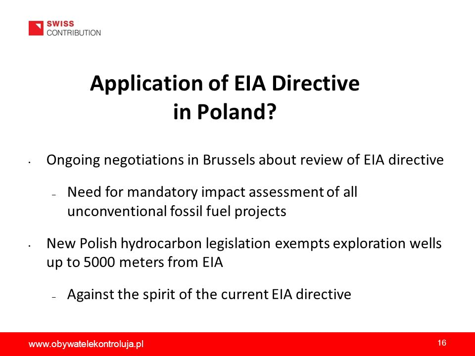 Application of EIA Directive in Poland.