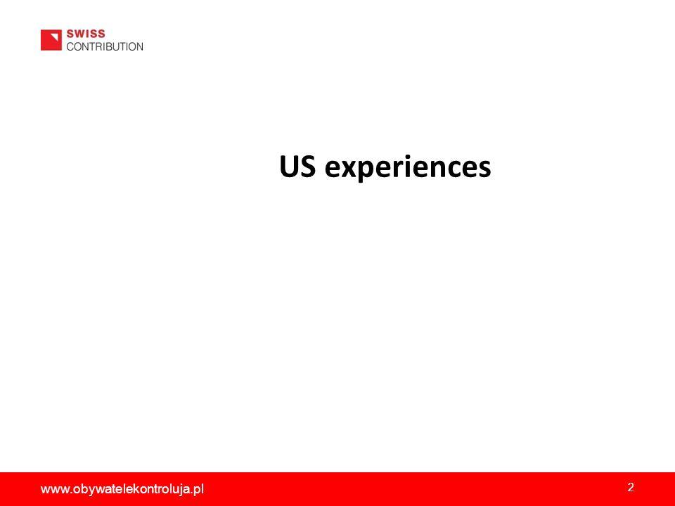 US experiences 2 www.obywatelekontroluja.pl