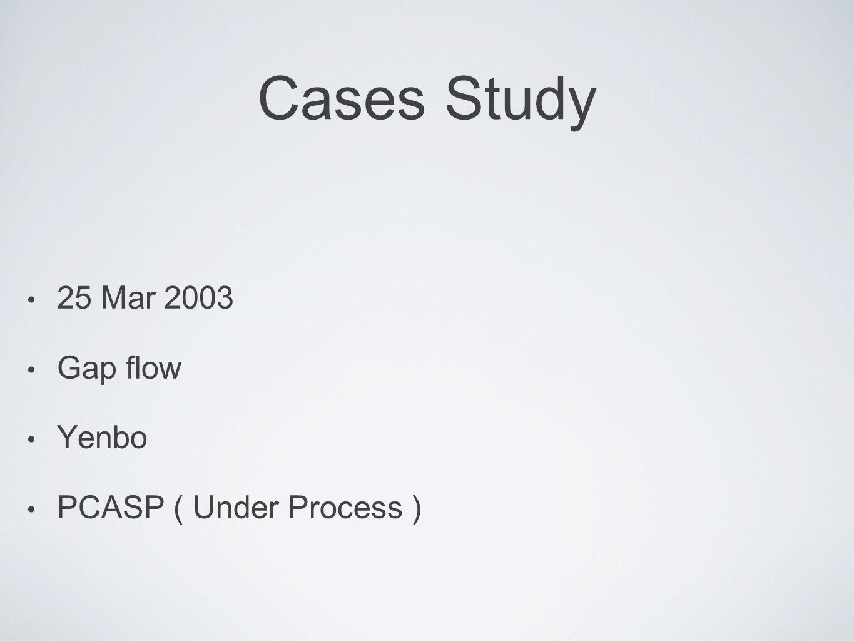 Cases Study 25 Mar 2003 Gap flow Yenbo PCASP ( Under Process )