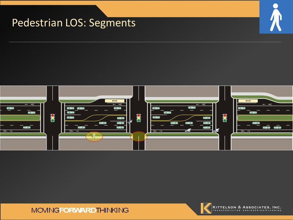 Pedestrian LOS: Segments