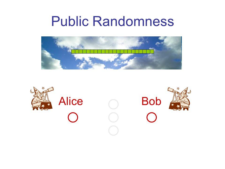Public Randomness Alice Bob