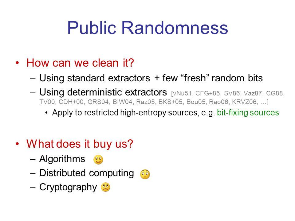 Public Randomness How can we clean it.
