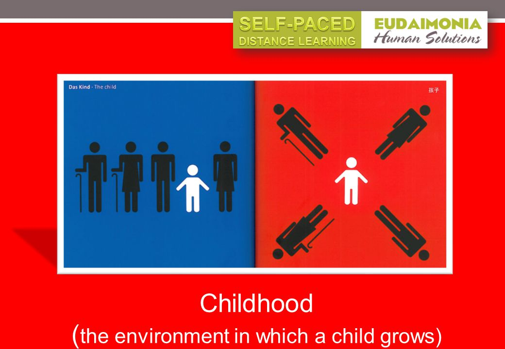 Childhood ( the environment in which a child grows)