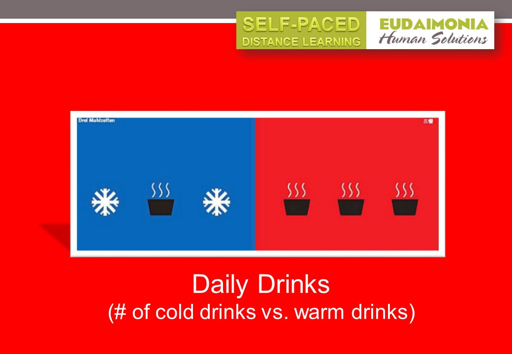 Daily Drinks (# of cold drinks vs. warm drinks)