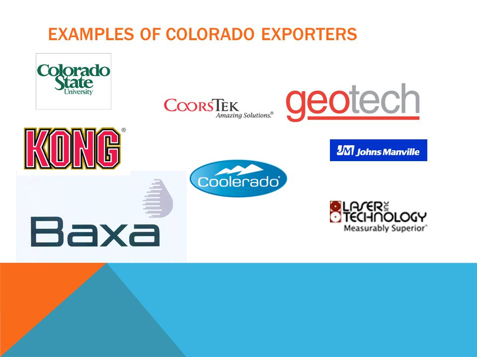 EXAMPLES OF COLORADO EXPORTERS