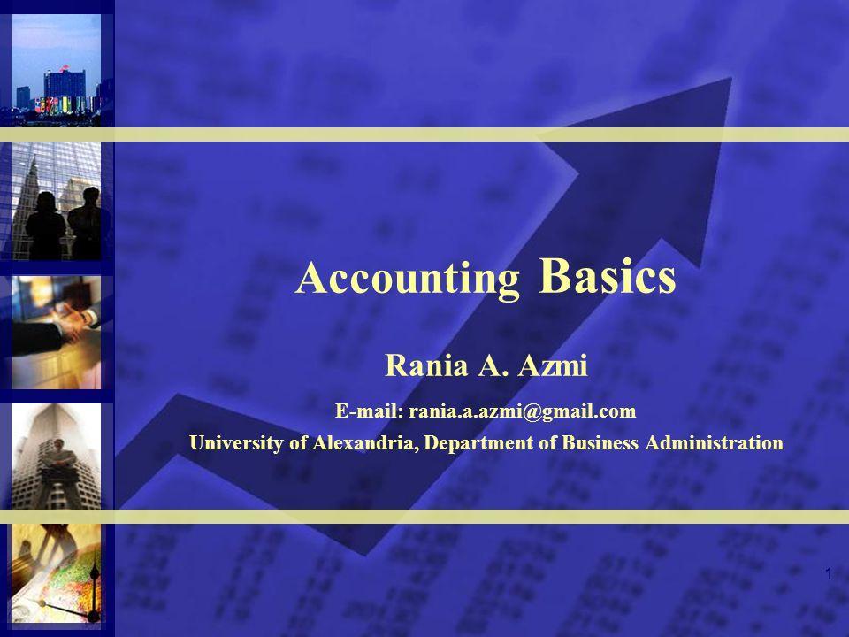 1 Accounting Basics Rania A.