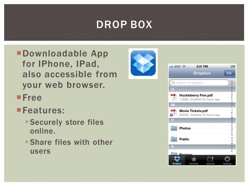 Downloadable App for IPhone, IPad, also accessible from your web browser.