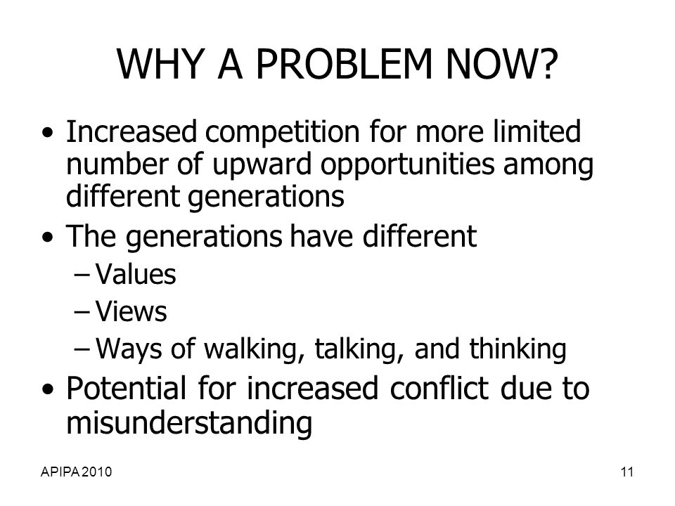 APIPA 201011 WHY A PROBLEM NOW.