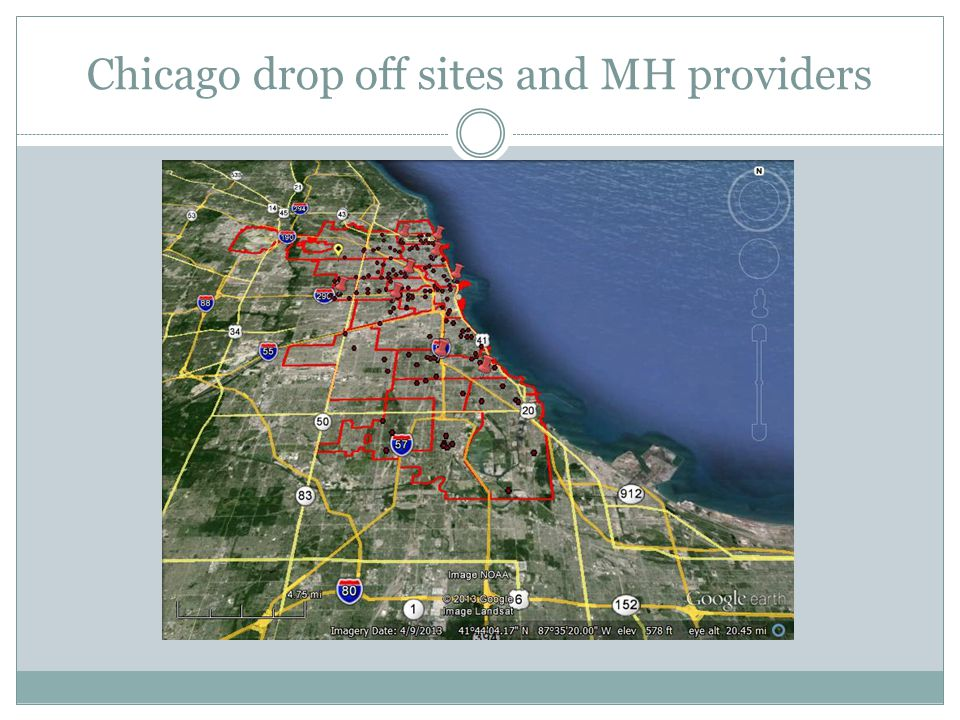 Chicago drop off sites and MH providers