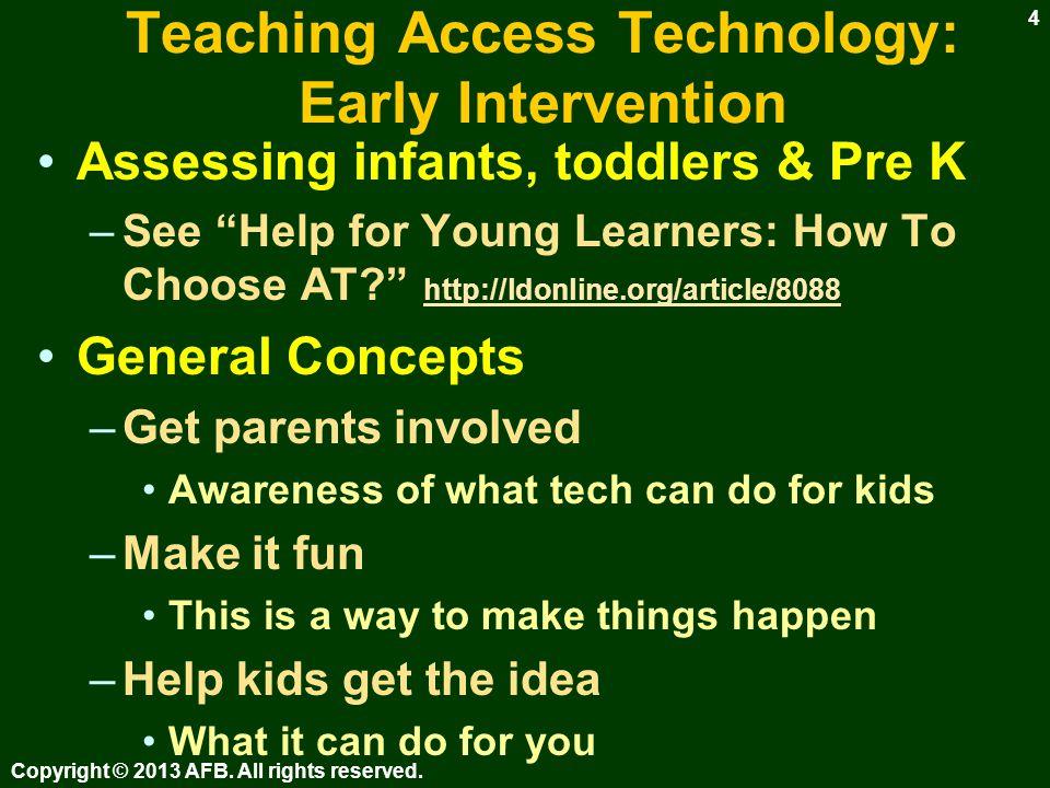 Teaching Access Technology: When.