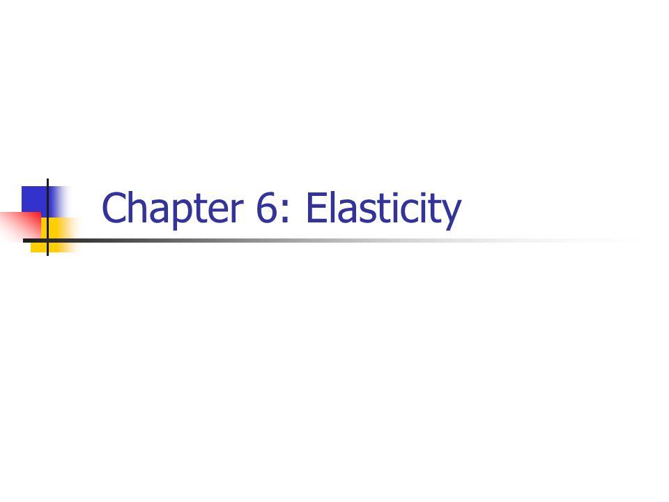 Chapter 6: Elasticity
