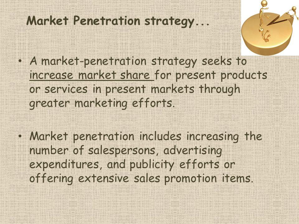 Market Penetration strategy...