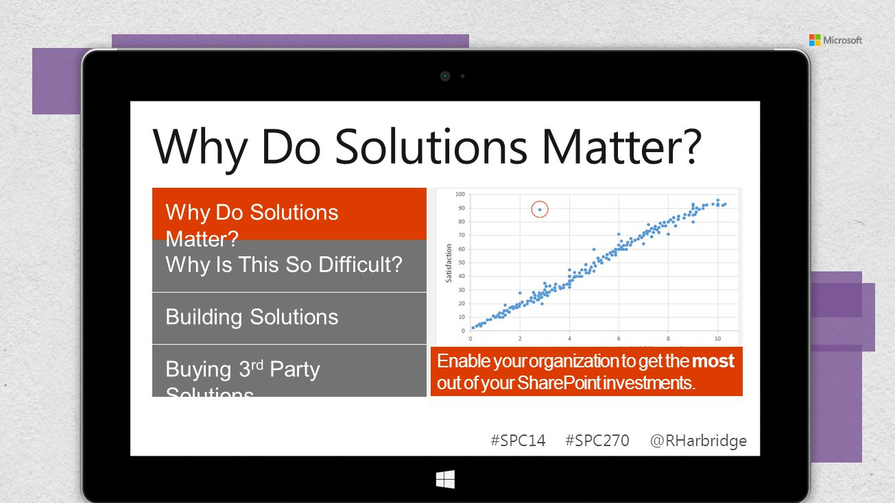 #SPC14 #SPC270 @RHarbridge Enable your organization to get the most out of your SharePoint investments.