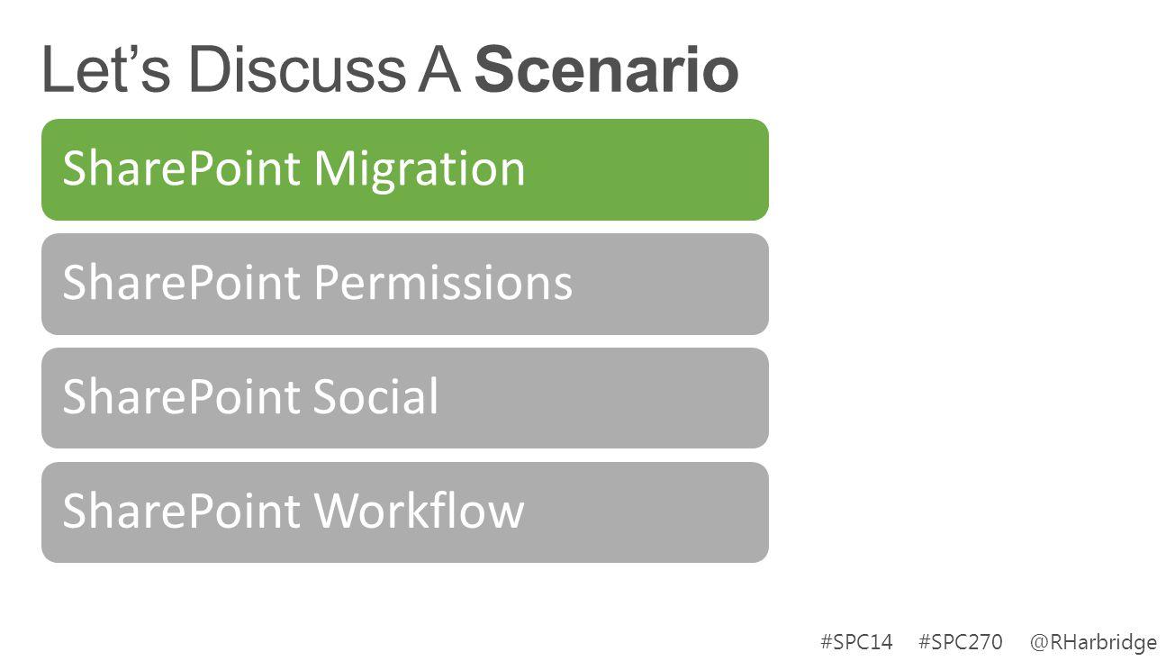 #SPC14 #SPC270 @RHarbridge SharePoint MigrationSharePoint PermissionsSharePoint SocialSharePoint Workflow