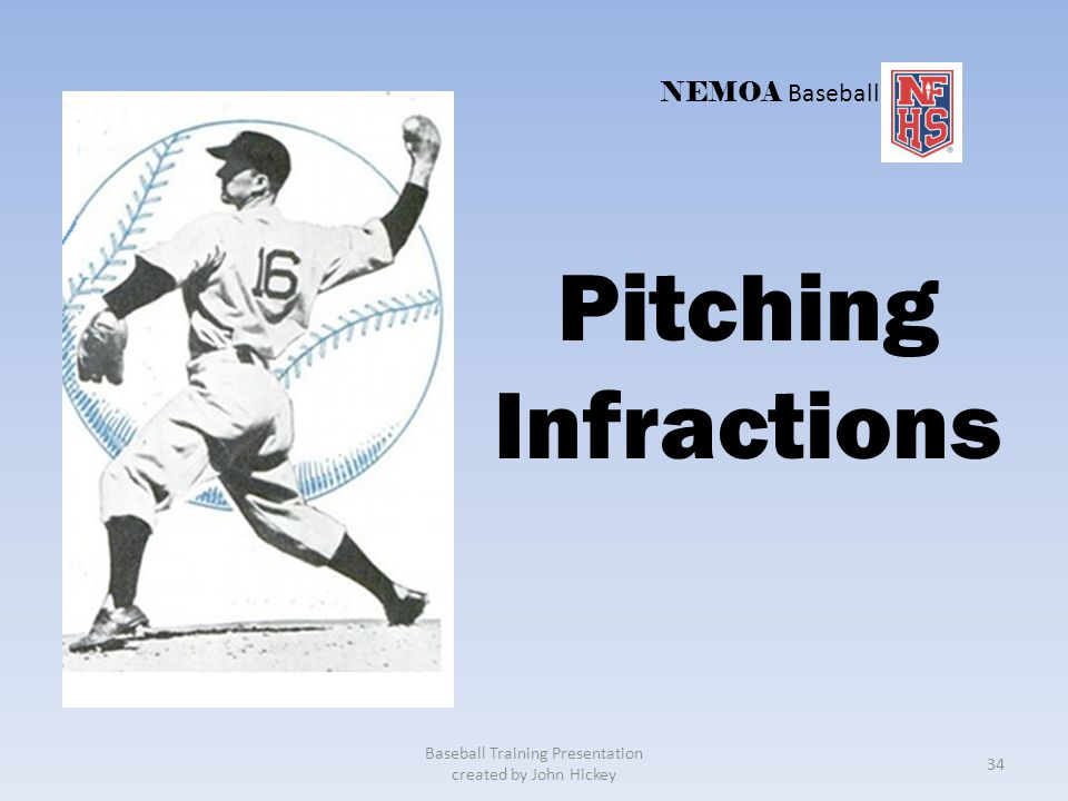 Situation : Ruling: Balk. The pitcher must go to set in one continuous motion. Awards: R1, home; R2, 2nd base. Baseball Training Presentation created