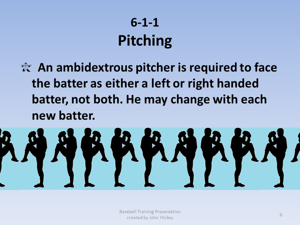 6-1-1 Pitching The catcher shall have both feet within the catchers box (8', 43