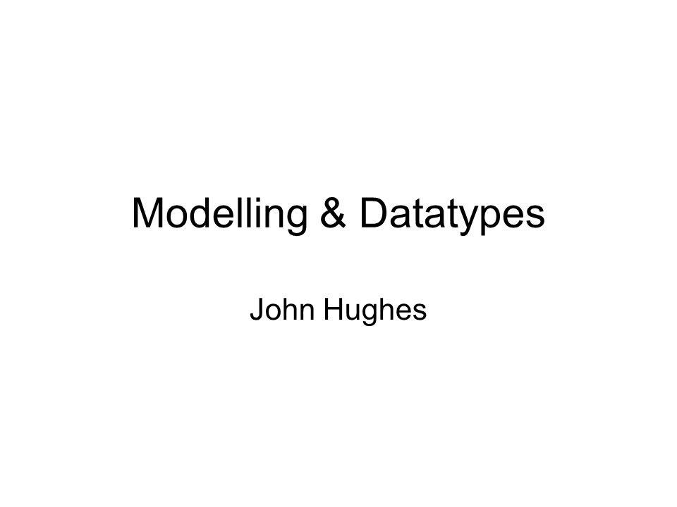 Modelling & Datatypes John Hughes