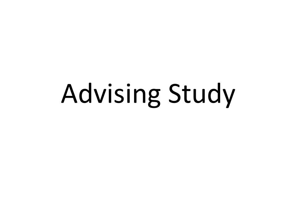 Advising Study