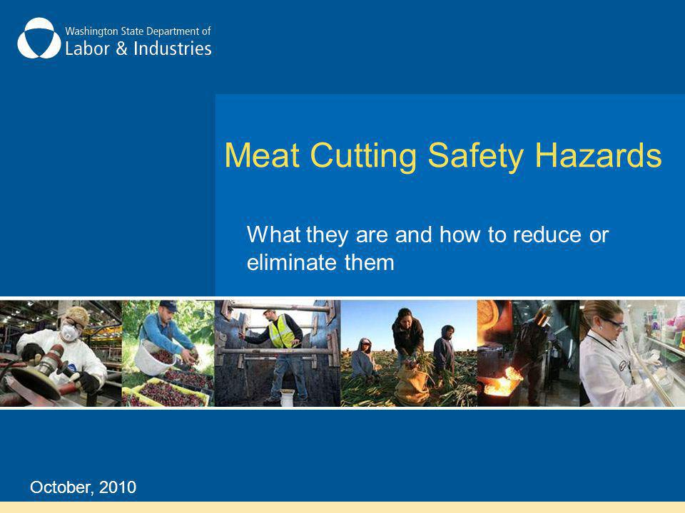 The main cause of slips and falls in the meat industry are wet, dirty floors and improper shoes.