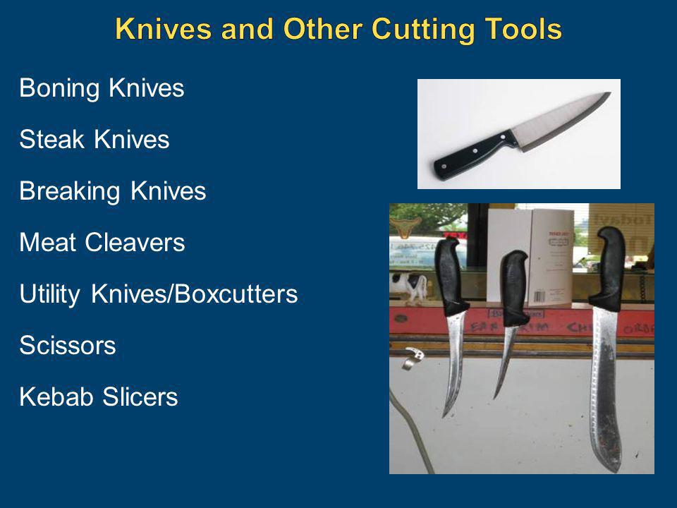 Boning Knives Steak Knives Breaking Knives Meat Cleavers Utility Knives/Boxcutters Scissors Kebab Slicers