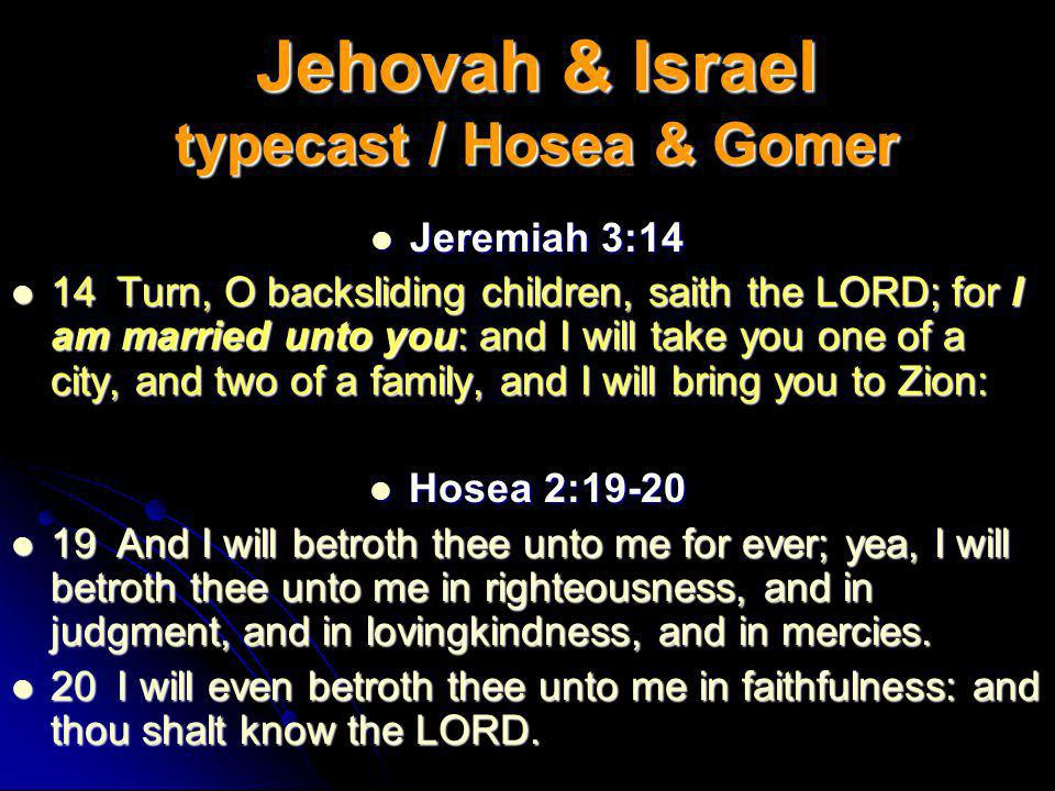 Israel is Gods Betrothed Isaiah 54: 5-6 Isaiah 54: 5-6 For thy Maker is thine Husband; the Lord of hosts is his name; and thy Redeemer the Holy One of