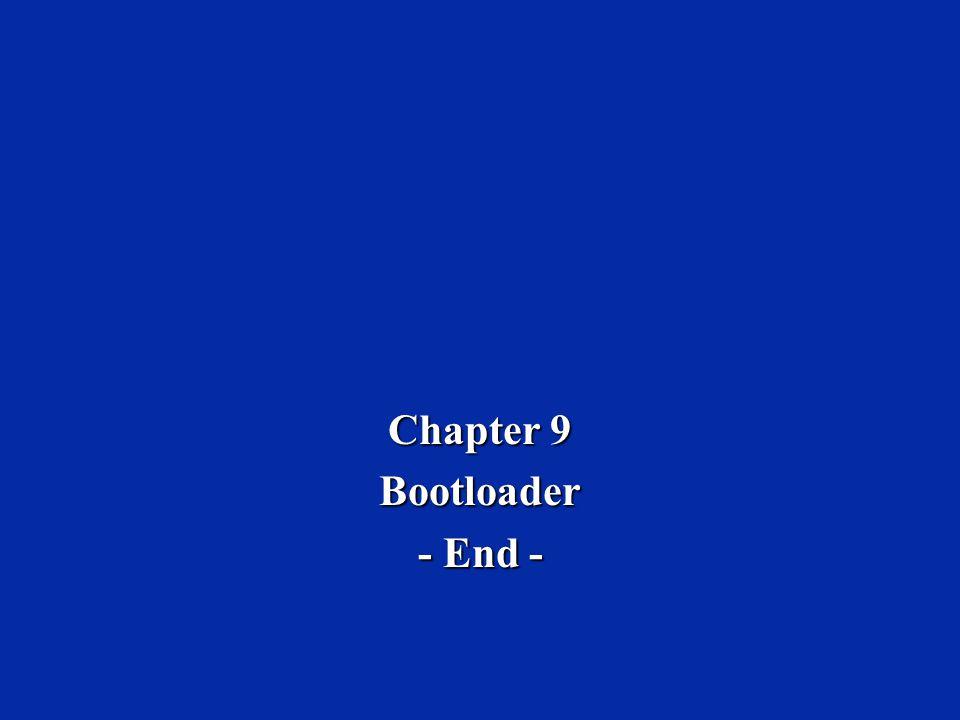 Chapter 9 Bootloader - End -