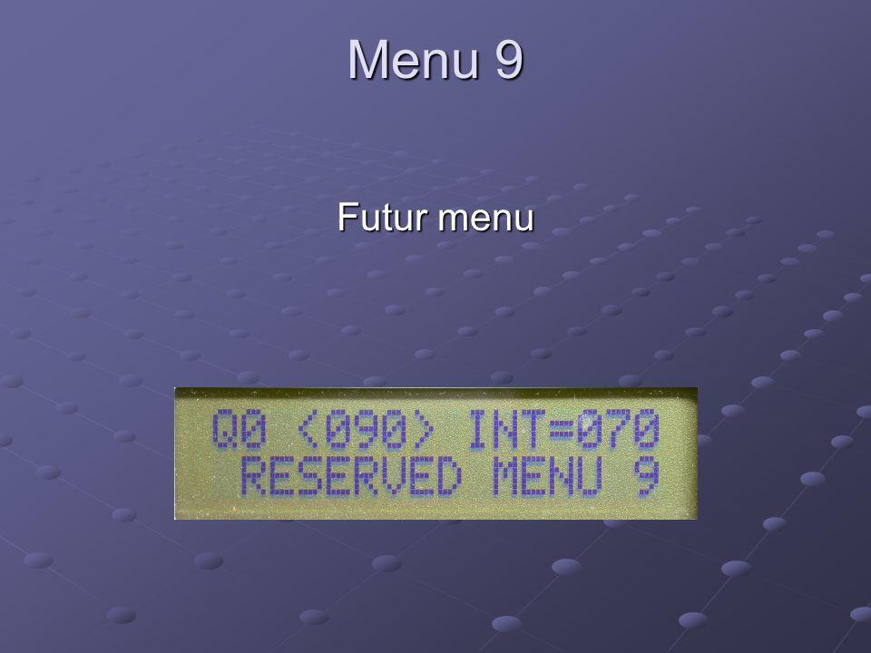 Menu 9 Futur menu
