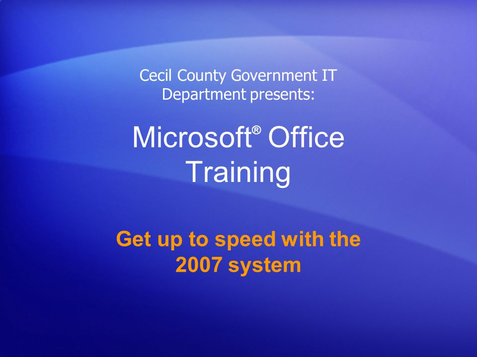 Get up to speed with the 2007 Office system Test 1, question 2: Answer Click the arrow on the group button.