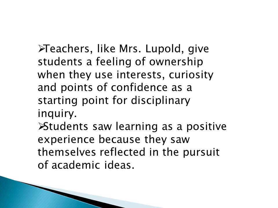 Tapping into student interests and life experiences is essential when delivering prescribed curriculum goals.