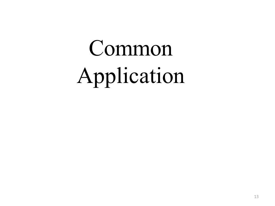 Common Application 13