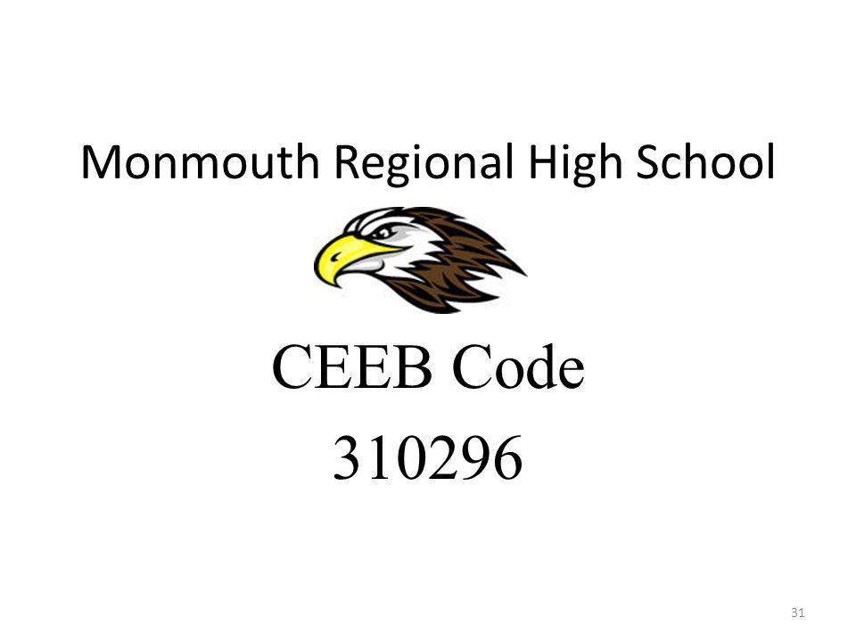 Monmouth Regional High School CEEB Code 310296 31