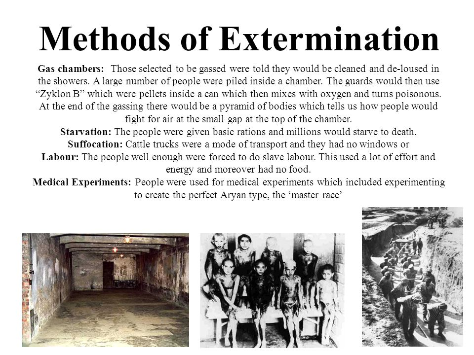 Gas chambers: Those selected to be gassed were told they would be cleaned and de-loused in the showers.